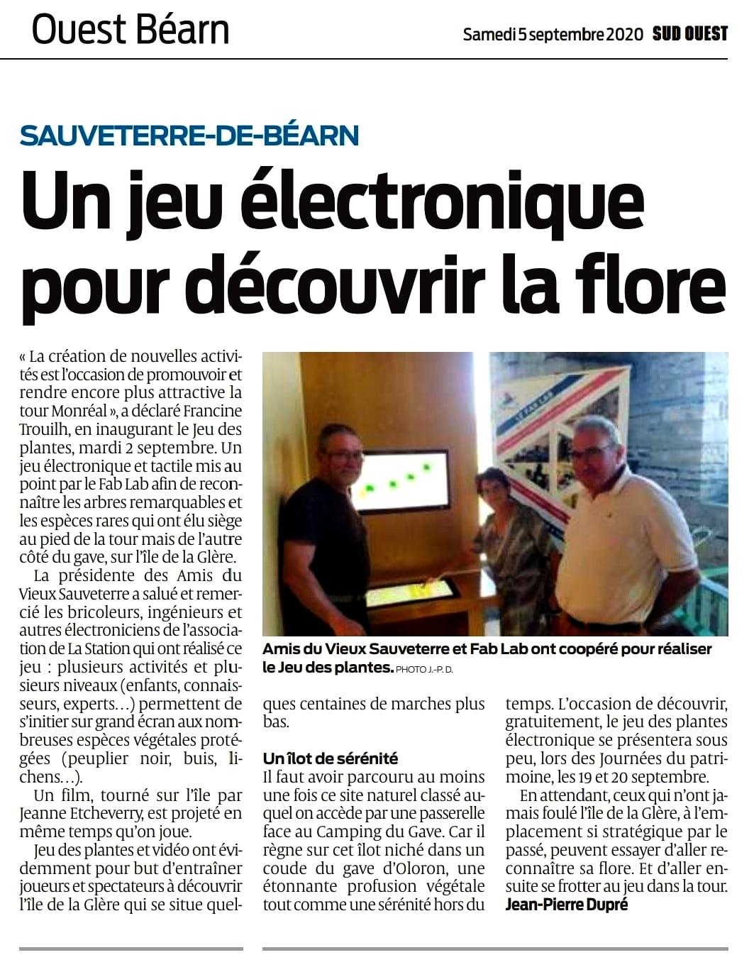 05.09.2020, Sud Ouest