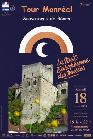 Affiche nuit européenne des musées tour Monréal 2019