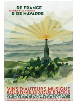 Affiche fête des vins naturels de France et de Navarre